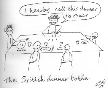 The British Dinner Table