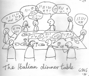 The italian Dinner Table